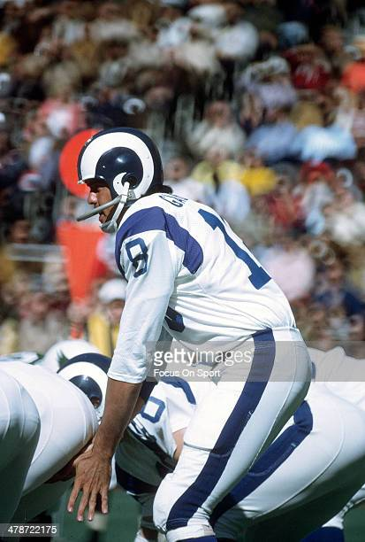 Roman Gabriel of the Los Angeles Rams in action against the Philadelphia Eagles during an NFL football game October 15, 1972 at Veterans Stadium in...