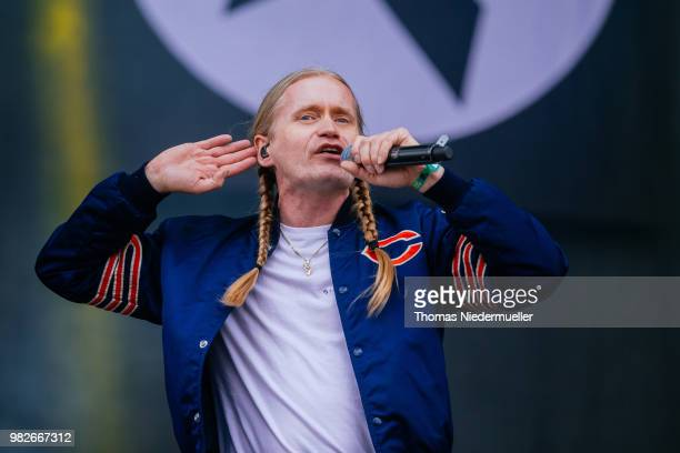 Camora performs live on stage during the third day of the Southside Festival on June 24 2018 in Neuhausen Germany