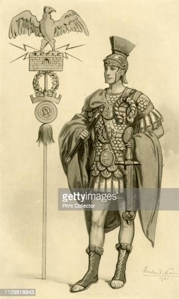 "Roman General', 1924. From ""Costume & Fashion - The Evolution of European Dress Through the Earlier Ages"", by Herbert Norris. [J. M. Dent and Sons..."
