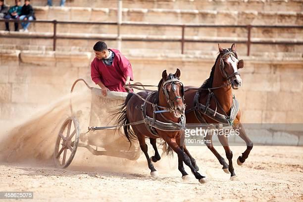 Roman General in his chariot - Jerash, Jordan