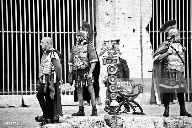 Roman Gladiators at the Colosseum, Black and White