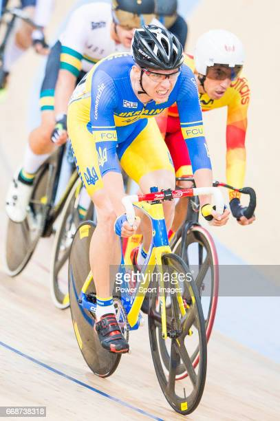 Roman Gladysh of Ukraine competes in the Men's Omnium Scratch during 2017 UCI World Cycling on April 15 2017 in Hong Kong Hong Kong