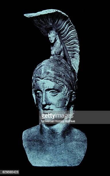 Roman God of war Mars head of Roman statue 3rd4th century AD Munich