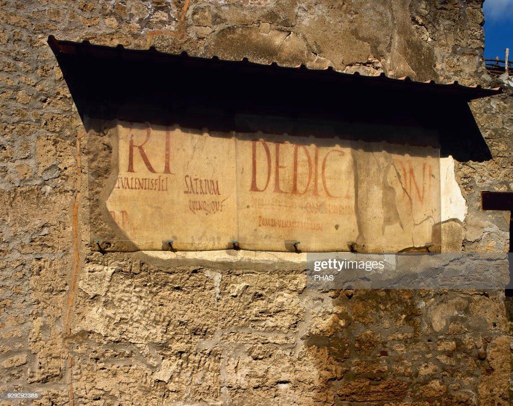 Roman graffiti on the wall news photo