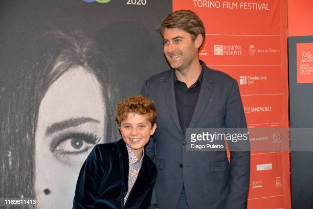 Roman Griffin Davis and Neal Carthew attend the Opening Ceremony for the 37th Torino Film Festival on November 22, 2019 in Turin, Italy.
