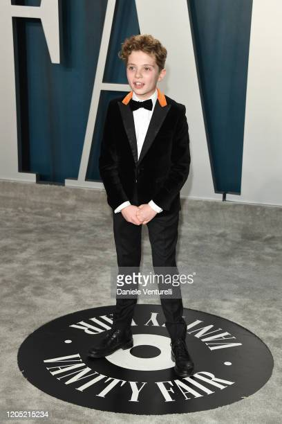 Roman Griffin Davis attends the 2020 Vanity Fair Oscar party hosted by Radhika Jones at Wallis Annenberg Center for the Performing Arts on February...