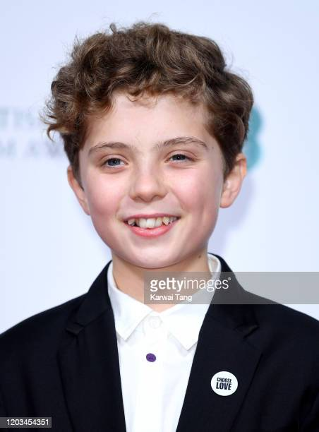 Roman Griffin Davis attends the EE British Academy Film Awards 2020 Nominees' Party at Kensington Palace on February 01 2020 in London England