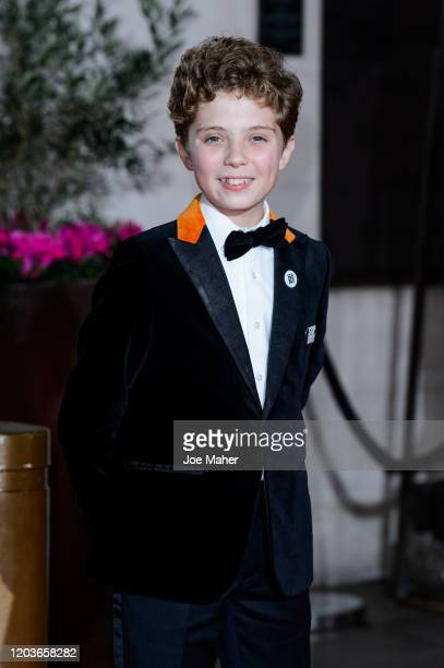Roman Griffin Davis attends the EE British Academy Film Awards 2020 After Party at The Grosvenor House Hotel on February 02 2020 in London England