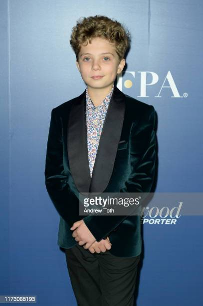 Roman Griffin Davis attends The Hollywood Foreign Press Association and The Hollywood Reporter party at the 2019 Toronto International Film Festival...