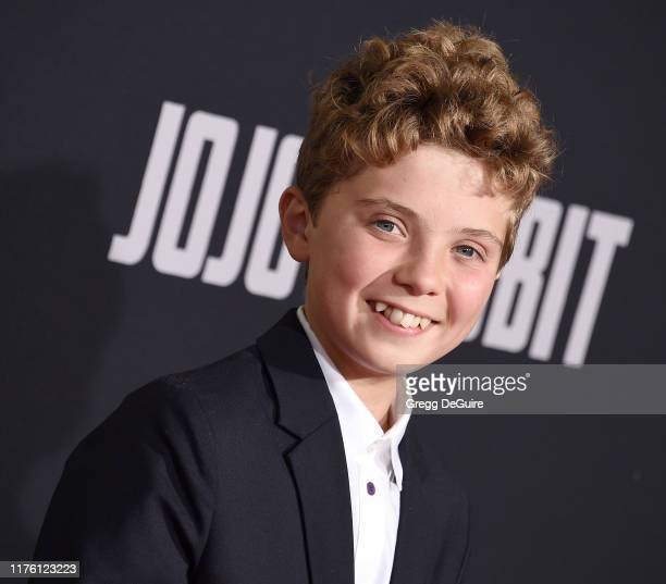 Roman Griffin Davis attends the Premiere Of Fox Searchlights' Jojo Rabbit at Hollywood American Legion Post 43 on October 15 2019 in Los Angeles...