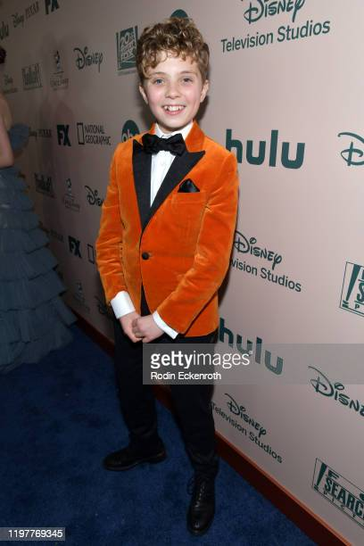 Roman Griffin Davis attends The Walt Disney Company 2020 Golden Globe Awards PostShow Celebration at The Beverly Hilton Hotel on January 05 2020 in...