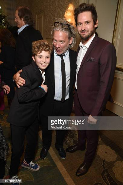 Roman Griffin Davis, Dexter Fletcher and Will Kemp attend the BAFTA Tea Party Presented by Jaguar Land Rover and BBC America on January 04, 2020 in...