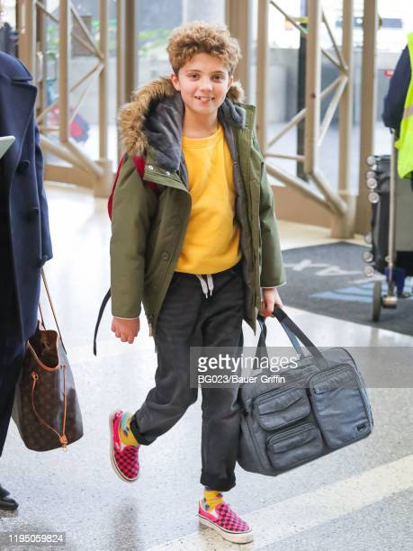 Roman Griffin Davis is seen at Los Angeles International Airport on January 20 2020 in Los Angeles California