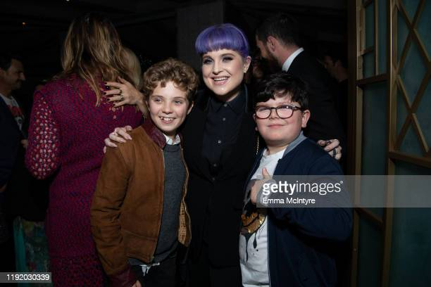 Roman Griffin Davis Kelly Osbourne and Archie Yates attend the after party for the special screening of Momentum Pictures' 'A Million Little Pieces'...