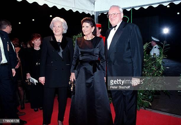 """Roman Herzog mit Ehefrau Christiane; und Lea Rabin , """"Bambi-;Verleihung"""", Zentrum für Kunst und;Medientechnologie, Karlsruhe,"""