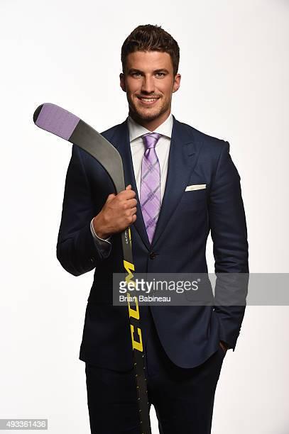 Roman Josi of the Nashville Predators poses for a portrait at the NHL Player Media Tour at the Ritz Carlton on September 8 2015 in Toronto Ontario