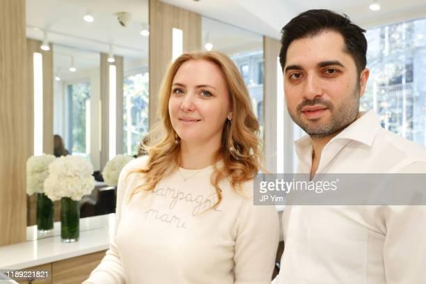 Roman K Salon owner Roman Kusayev and guest attend the Roman K Salon Madison Avenue Opening on November 21 2019 in New York City