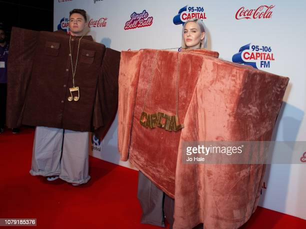 Roman Kemp and Anne Marie attend the Capital FM Jingle Bell Ball at The O2 Arena on December 08 2018 in London England