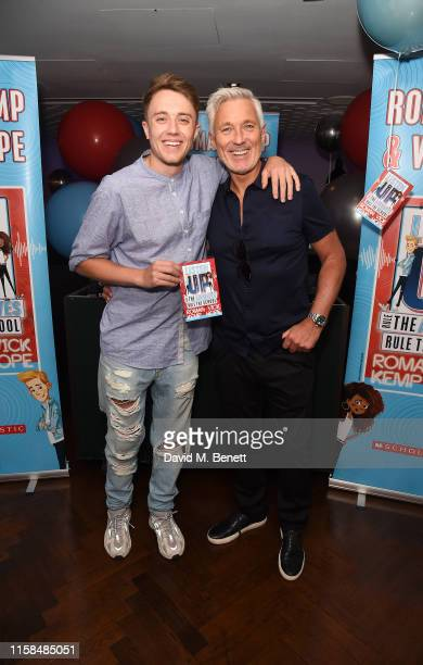 Roman Kemp and Martin Kemp attend a party to celebrate the upcoming release of Vick Hope and Roman Kemp's new children's book 'Listen Up' at The h...