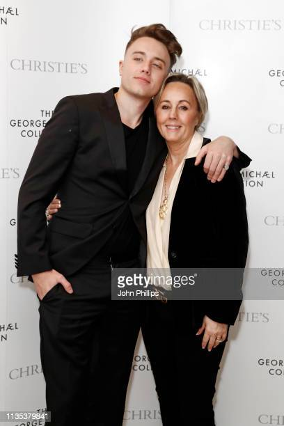 Roman Kemp and Shirlie Holliman attend the George Michael Collection VIP Reception at Christies on March 12, 2019 in London, England.