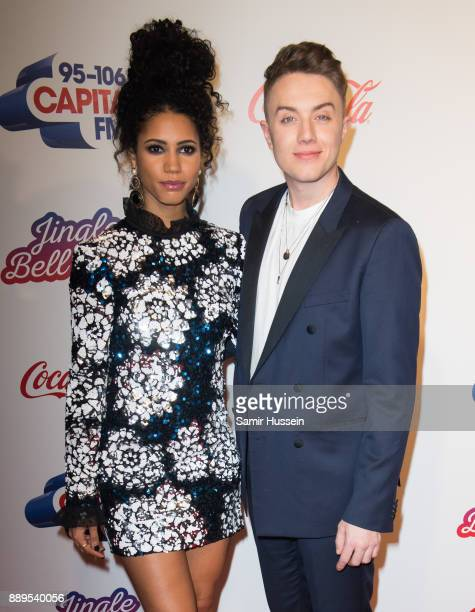 Roman Kemp and Vick Hope attends the Capital FM Jingle Bell Ball with CocaCola at The O2 Arena on December 10 2017 in London England