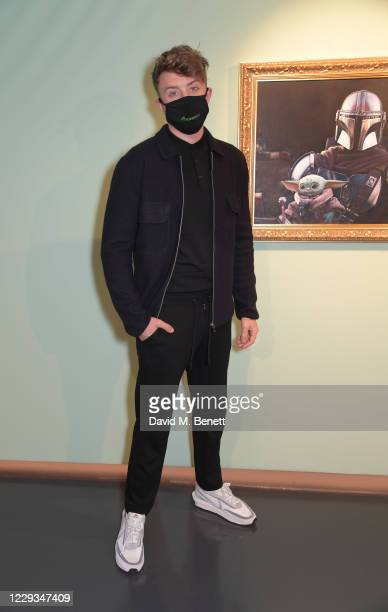 """Roman Kemp attends a private view of """"The Mandalorian And The Child"""", a special portrait being unveiled in collaboration with the National Portrait..."""