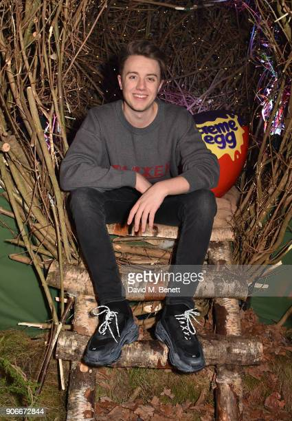 Roman Kemp attends the Grand Opening of the Cadbury Creme Egg Camp on January 18 2018 in London England