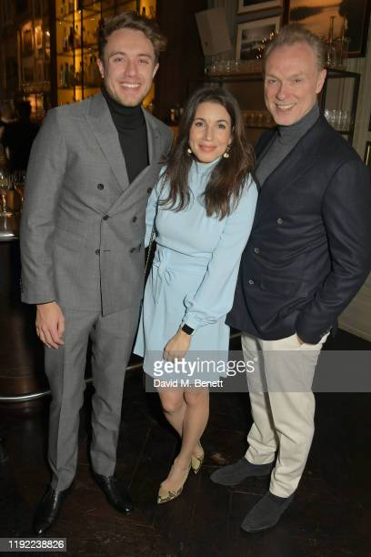 Roman Kemp Lauren Kemp and Gary Kemp attend the British GQ dinner cohosted by Dylan Jones Jack Guinness in partnership with JPHackett No14 Savile Row...