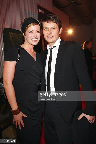 Roman Knizka And friend Stefanie Mensing In The Premiere Of Ard film Children Of The Storm In The Astor Film Lounge in Berlin