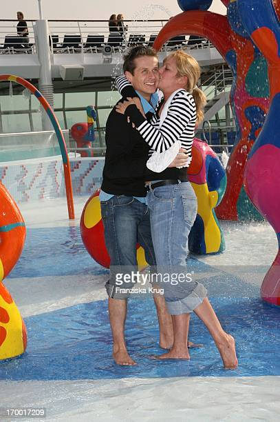 Roman Knizka And girlfriend Stefanie Mensing On The Freedom Of The Seas In the port of Hamburg on 240406