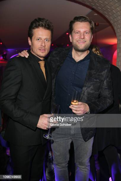 Roman Knizka and Johan Petre during the BUNTE BMW Festival Night at Restaurant Gendarmerie during the 69th Berlinale Filmfestival on February 8 2019...