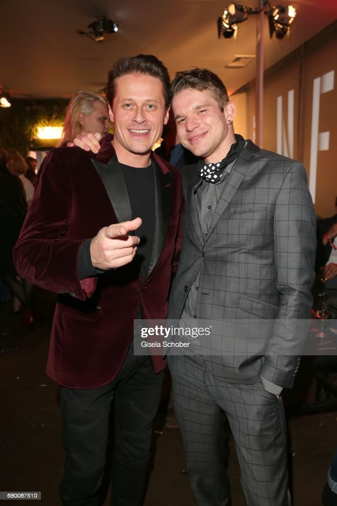 Roman Knizka and Tobias Schenke during the New Faces Award Film at Haus Ungarn on April 27, 2017 in Berlin, Germany.