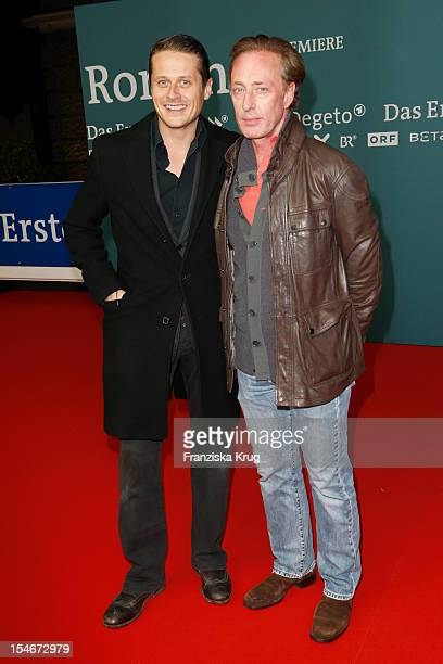 Roman Knizka and Wilfried Hochholdinger attend the 'Rommel' TV Film Premiere at the Delphi Filmpalast on October 24 2012 in Berlin Germany