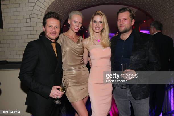 Roman Knizka Nele Hermann Wilma Elles Johan Petre during the BUNTE BMW Festival Night at Restaurant Gendarmerie during the 69th Berlinale...