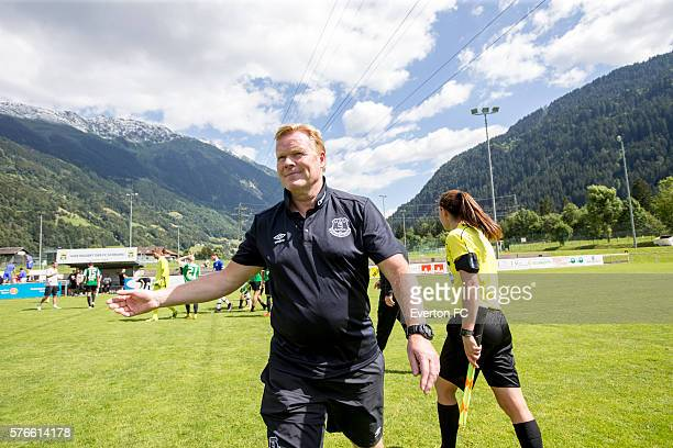 Roman Koeman of the Netherlands head coach of Everton FC is seen during the preseason friendly game against FK Jablonec on July 16 2016 in Schruns...