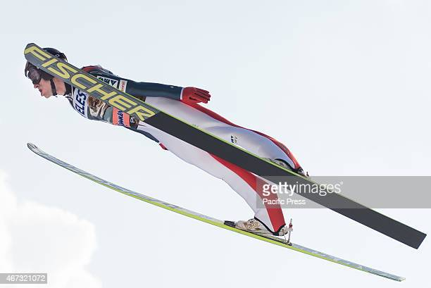 Roman Koudelka of Czech Republic competes during FIS World Cup Planica Flying Hill Individual Ski Jumping. Ski jumping is a form of nordic skiing in...