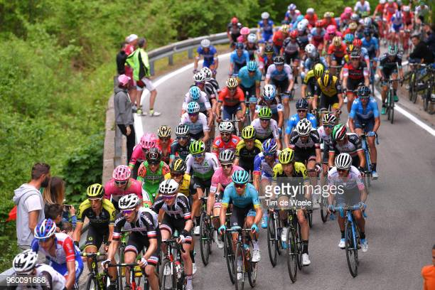 Roman Kreuziger of Czech Republic and Team Mitchelton-Scott / Tom Dumoulin of The Netherlands and Team Sunweb / Miguel Angel Lopez of Colombia and...