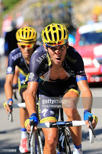 Roman Kreuziger of Czech Republic and Team Saxo-Tinkoff in action during stage twenty of the 2013 Tour de France, a 125KM road stage from Annecy to...