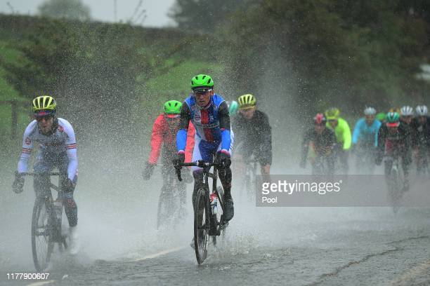 Roman Kreuziger of Czech Republic / Flooded race route / Rain / Water / during the 92nd UCI Road World Championships 2019, Men Elite Road Race a...