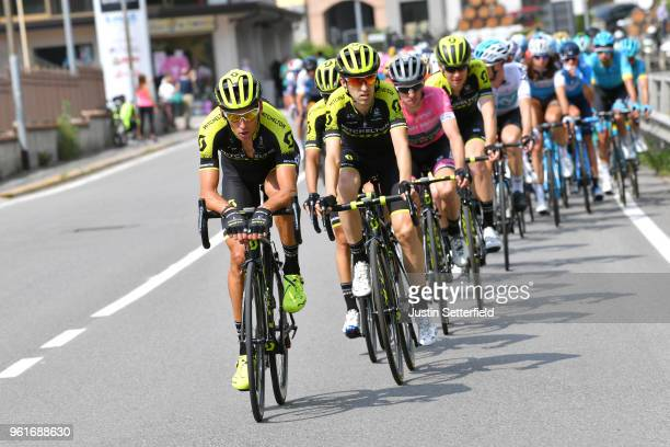 Roman Kreuziger of Czech Republic / Mikel Nieve Ituralde of Spain / Simon Yates of Great Britain Pink Leader Jersey / Jack Haig of Australia / Team...