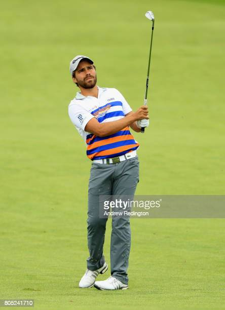 Roman Langasque on the 6th hole during day three of the HNA Open de France at Le Golf National on July 1 2017 in Paris France