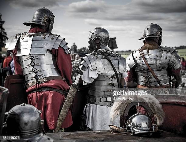 Roman Legionnaire reenactors at Hadrian's Wall, UK