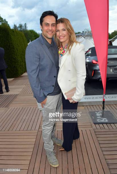 Roman Libbertz and Jessica Kastrop attend the Aufschlag bei BILD 2019 event on the occasion of the BMW Open by FWU on May 02, 2019 in Munich, Germany.