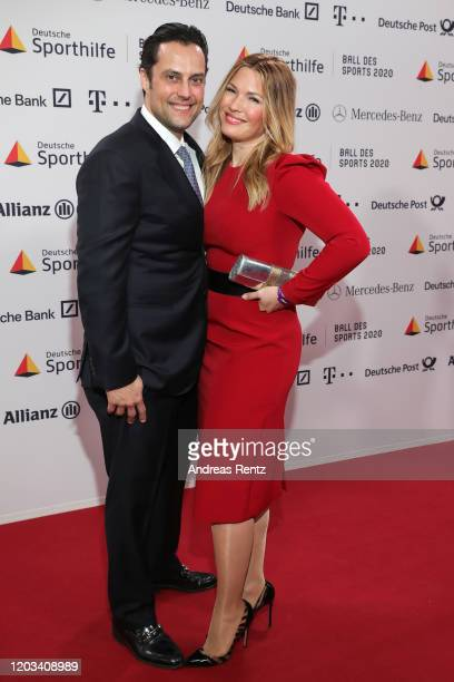 Roman Libbertz and Jessica Libbertz attend the Ball des Sports 2020 gala at RheinMain CongressCenter on February 01, 2020 in Wiesbaden, Germany.