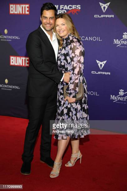 "Roman Libbertz and Jessica Libbertz attends the Bunte ""New Faces Award Music"" on August 29, 2019 in Dusseldorf, Germany."