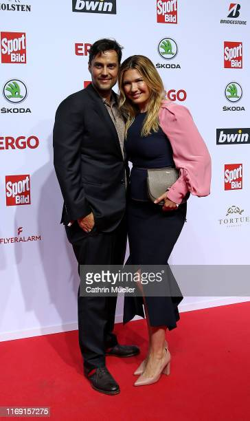 Roman Libbertz and Jessica Libbertz attends the Sport Bild Award 2019 at the Fischauktionshalle on August 19, 2019 in Hamburg, Germany.