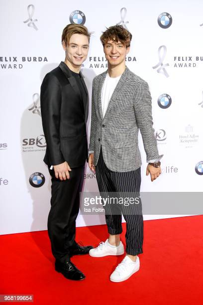 Roman Lochmann and Heiko Lochmann alias 'Die Lochis' attend the Felix Burda Award at Hotel Adlon on May 13 2018 in Berlin Germany