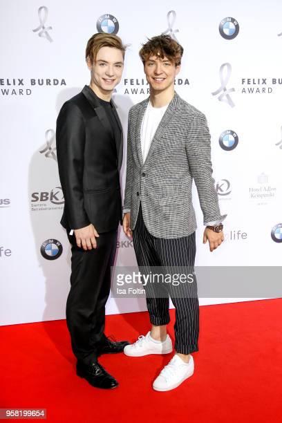 Roman Lochmann and Heiko Lochmann alias 'Die Lochis' attend the Felix Burda Award at Hotel Adlon on May 13, 2018 in Berlin, Germany.