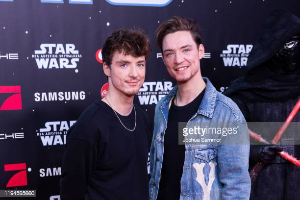 Roman Lochmann and Heiko Lochmann are seen at the screening of Star Wars Der Aufstieg Skywalkers at Cinedom on December 17 2019 in Cologne Germany
