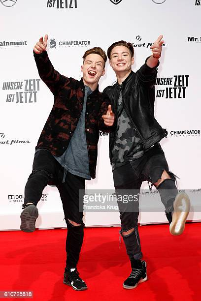 Roman Lochmann and Heiko Lochmann of the band Die Lochis attend the german premiere 'Unsere Zeit ist jetzt' at CineStar on September 27 2016 in...